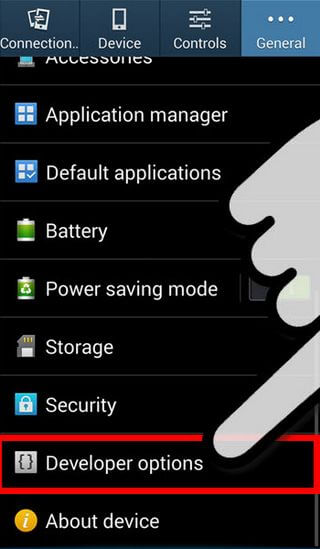 Enable Developer Options Samsung Galaxy S3