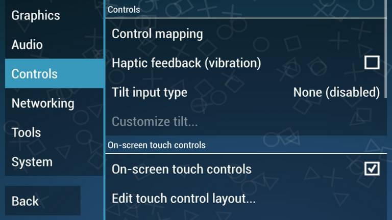 PPSSPP Controls Settings