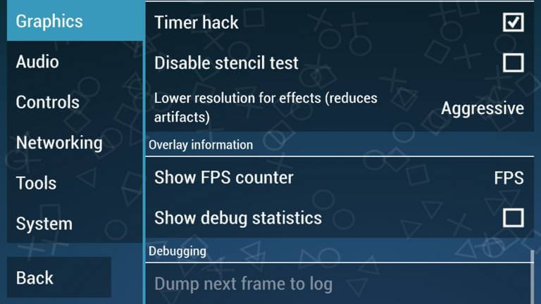 PPSSPP FPS counter