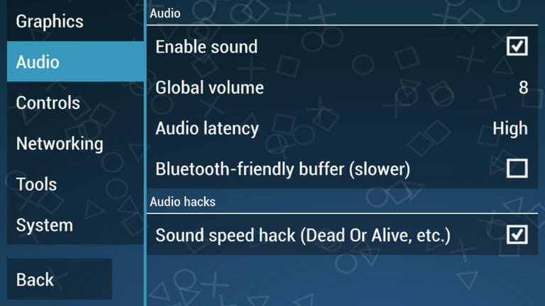 PPSSPP Audio Settings