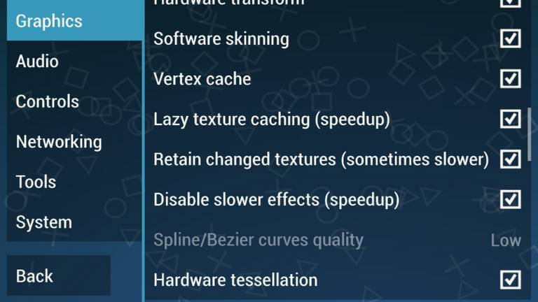 PPSSPP Graphics Performance Settings