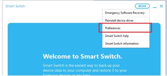Customize backup on Samsung Galaxy smartphones