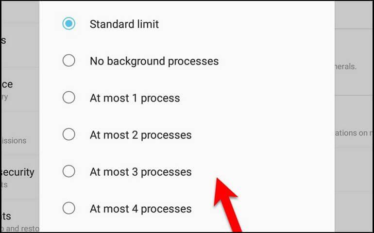 Limit Background Processes