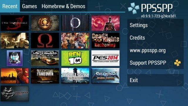 Play PPSSPP Games on Note 8