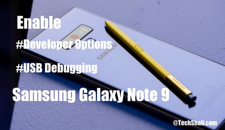 Photo of Enable Developer Options/USB Debugging on Galaxy Note 9