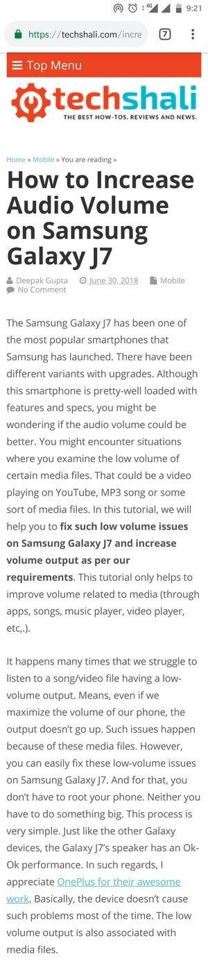 Scrolling screenshot on the Galaxy S7