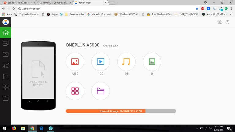 Xender File Transfer App Galaxy J4