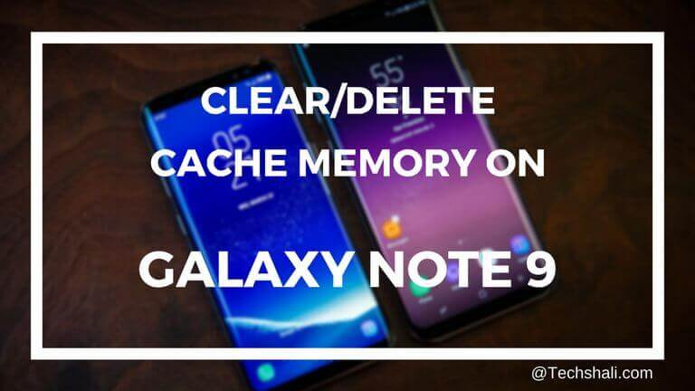 Delete or Clear Cache on Samsung Galaxy Note 9