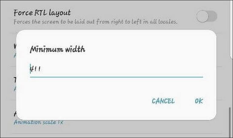 Change DPI Settings on Galaxy Note 8 for better performance