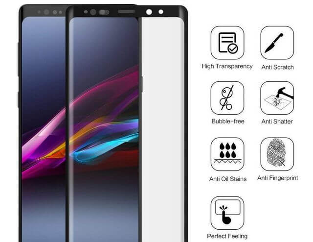 Tempered Glass Screen Cover for Samsung Galaxy Note 9