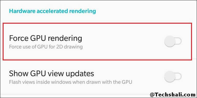 Force GPU Rendering on Samsung Galaxy S9