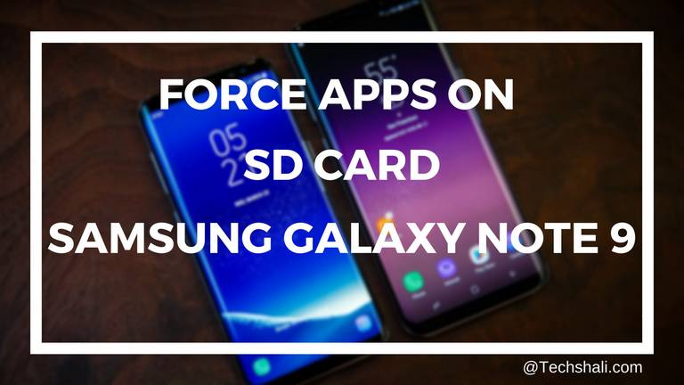 Install Apps on SD Card on Galaxy Note 9