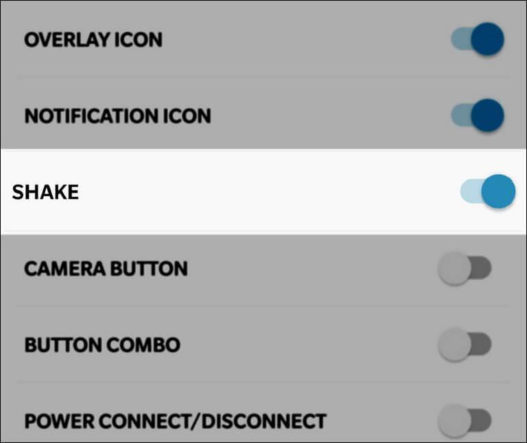 Shake and capture Screenshot on Poco F1