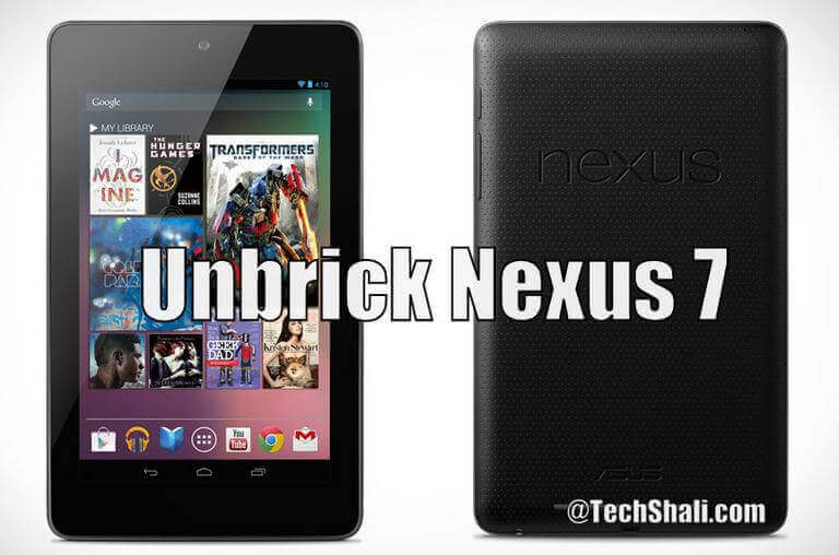 Photo of How to unbrick Google Nexus 7 with stock firmware