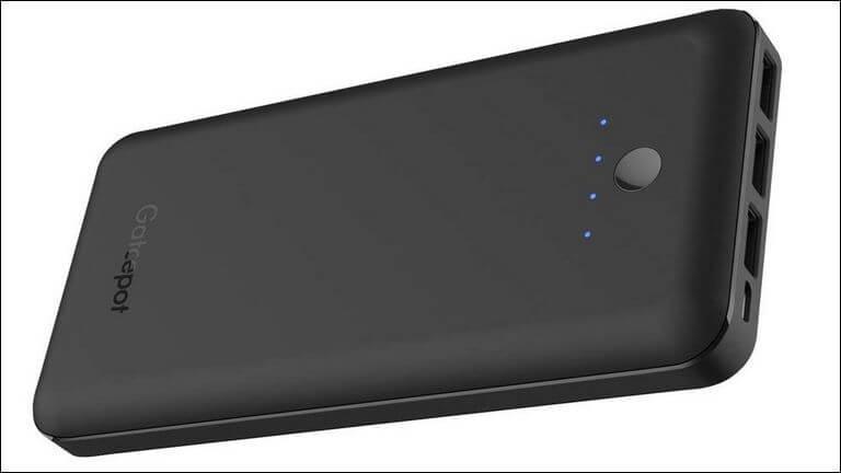 Gatcepot Portable Charger 24000mAh Power Bank 5.8A Output 3-Port