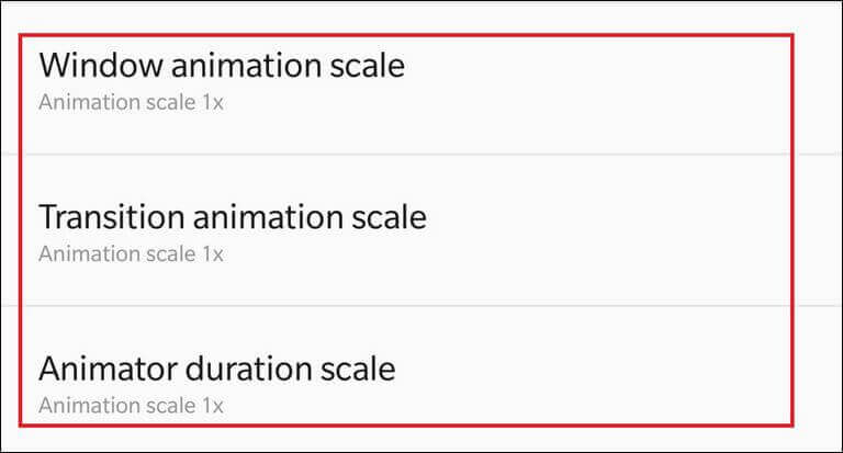 Customize Animations for better performance