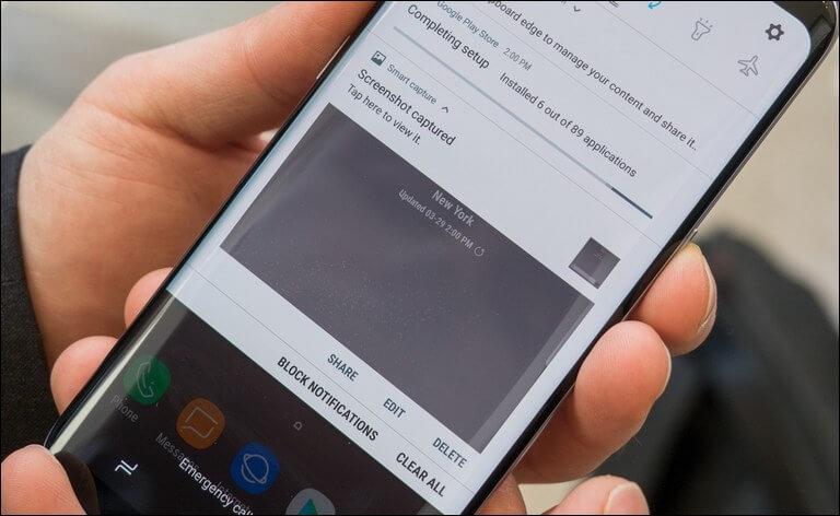 Take screenshot on Samsung Galaxy A6s