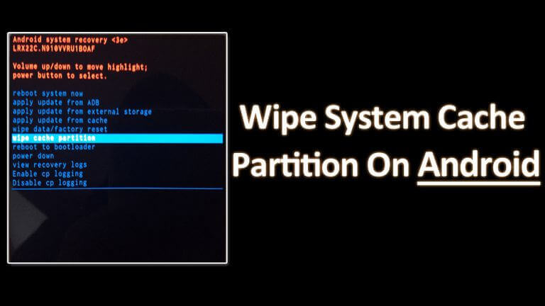 Wipe cache partition on Google Pixel 3 and 3 XL