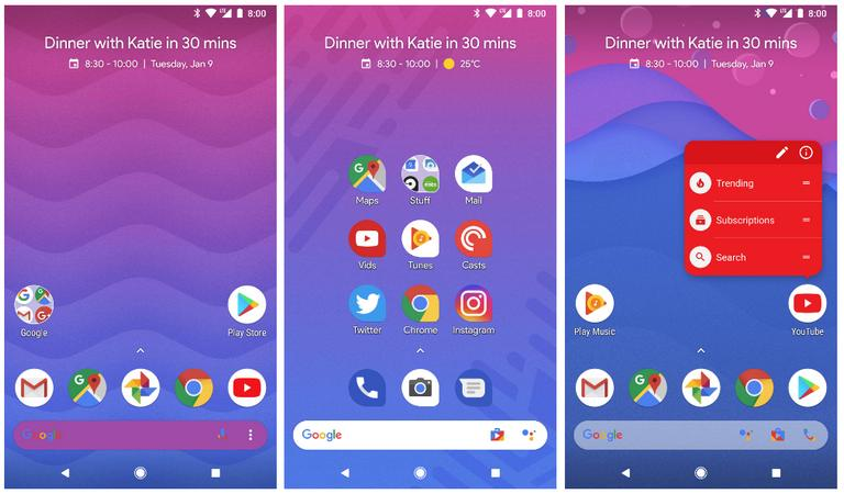Action Launcher Pixel Edition for Samsung Galaxy M20 and M10
