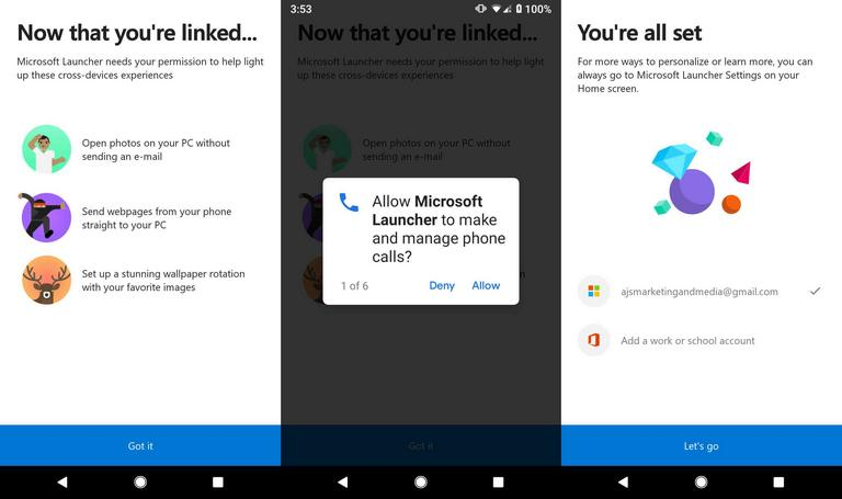 Microsoft Launcher for Samsung Galaxy M20 and M10