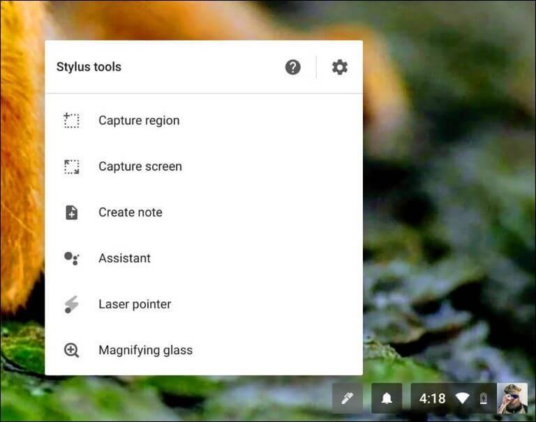 chromebook pen menu screenshot