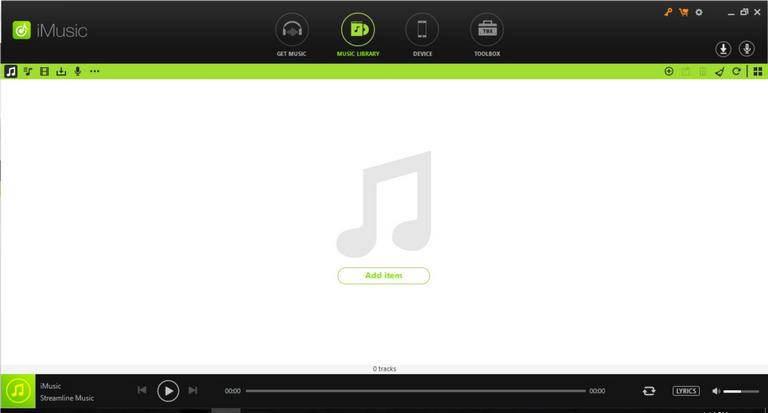 iMusic user interface
