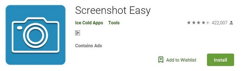 Screenshot Easy App - Samsung Galaxy S5 for scrolling screenshots