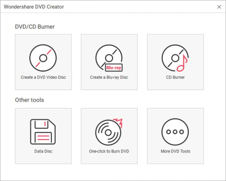 Wondershare DVD Creator screen