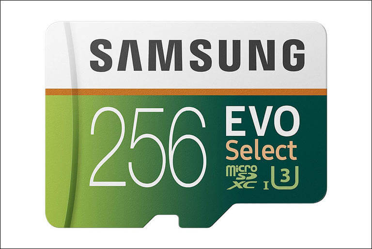 Samsung 256GB Memory Card with Adapter