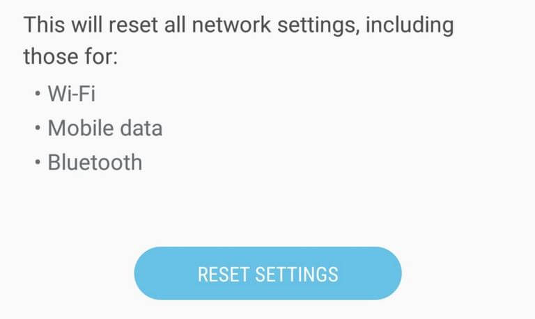 Reset Network Settings on Galaxy M20