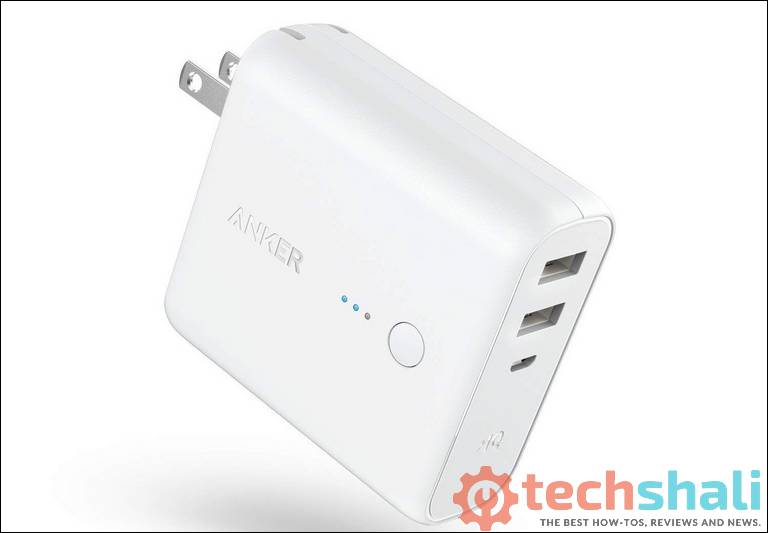 Anker PowerCore Fusion, Portable Charger 5000mAh with Dual USB Wall Charger