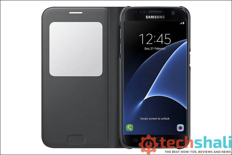 Official Samsung Galaxy S7 S View Premium Cover Case