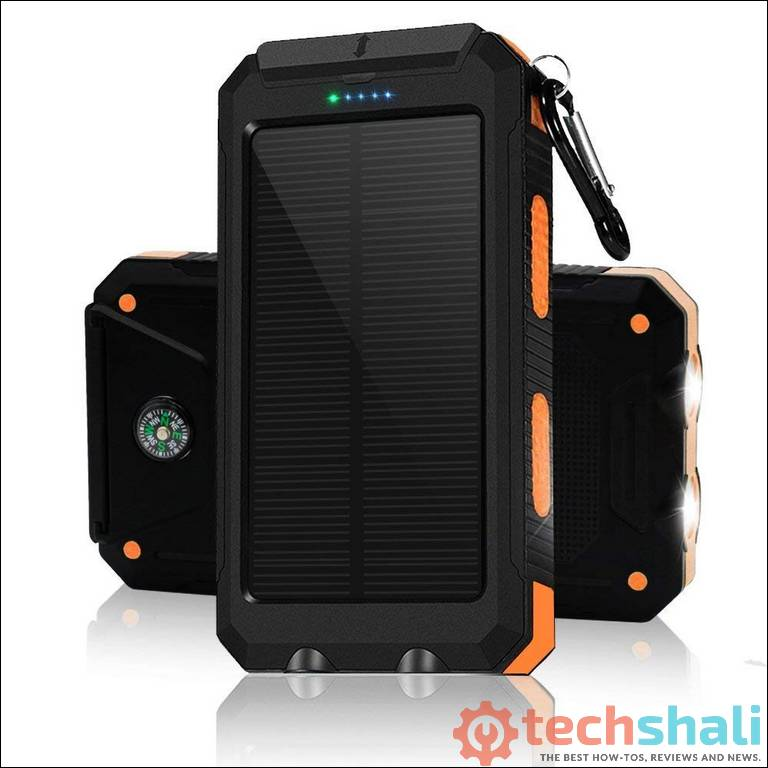 Solar Charger 30,000mAh Power Bank for Galaxy S10