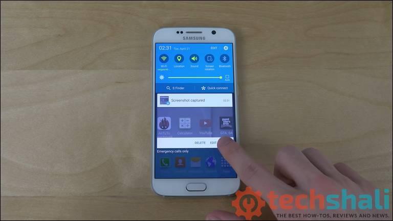 Edit screenshots on Samsung Galaxy S6 and S6 Edge