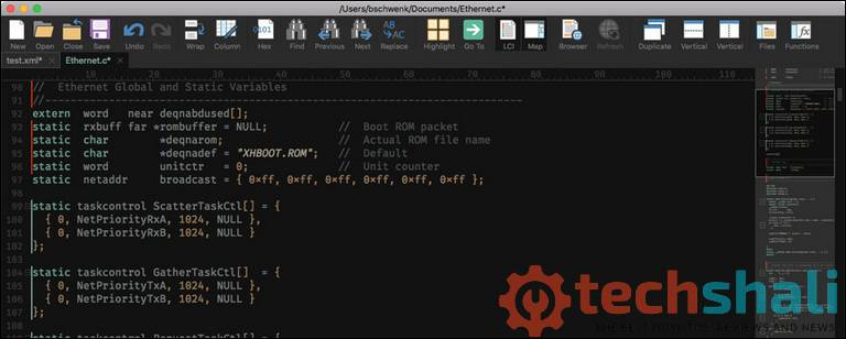 UltraEdit Code Editor