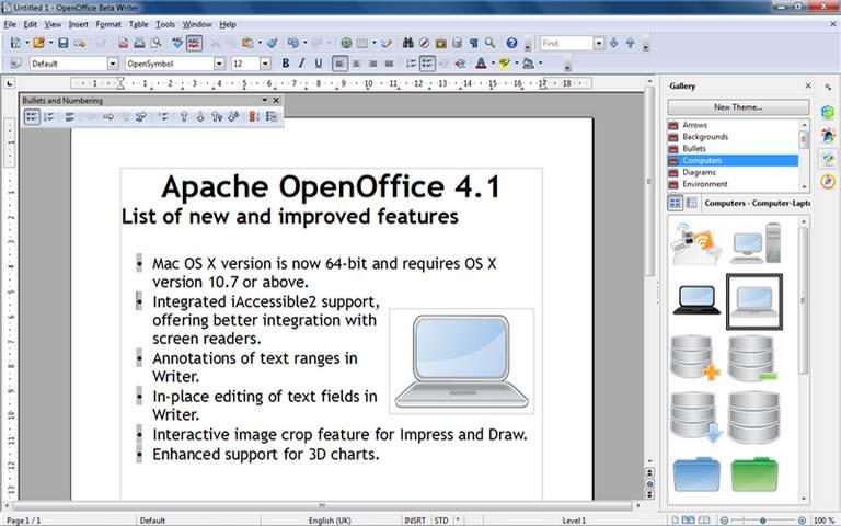 Apache Openoffice Suite; best Microsoft Office Alternative