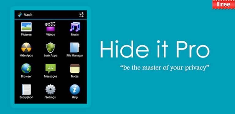 Hide Apps with the use of third-party Hider apps