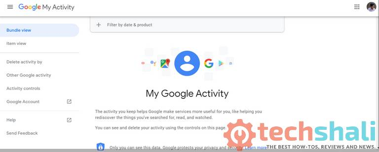 See your Google activity