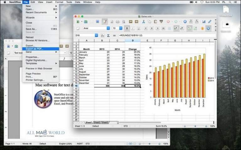 Neo Office is an alternative to open office for MAC