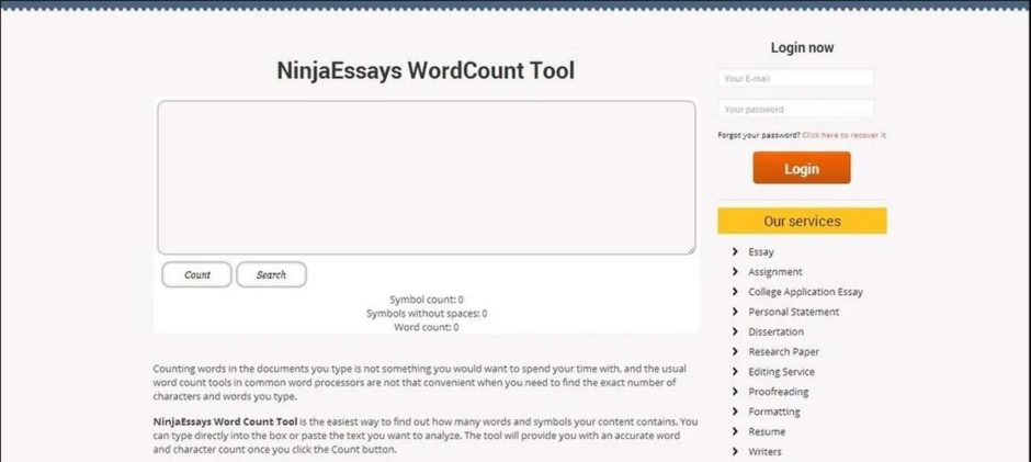 Essay word count tool