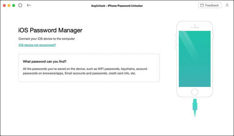 AnyUnlock iOS Password Manager