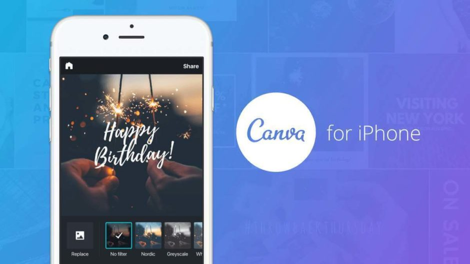 Canva app for iPhone