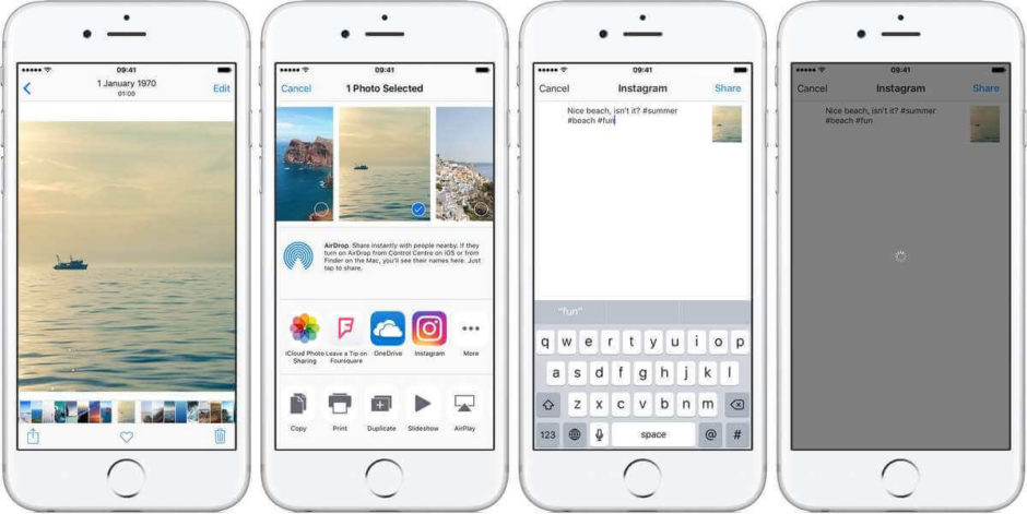 Instagram app for photo editing on iPhone