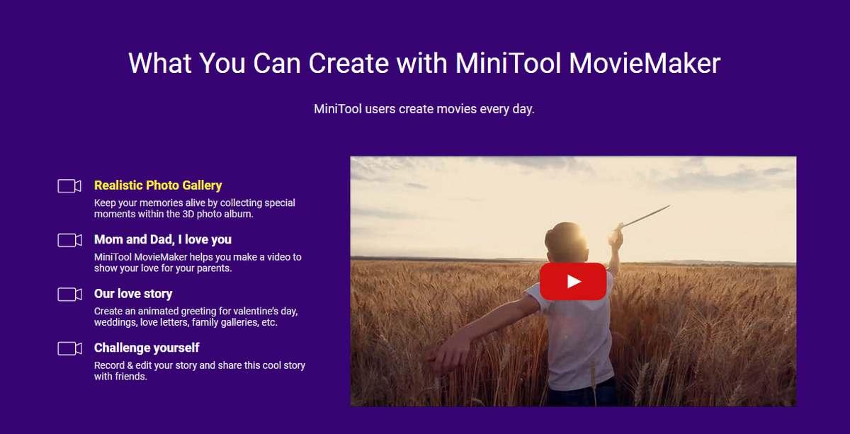 MiniTool MovieMaker 2.2