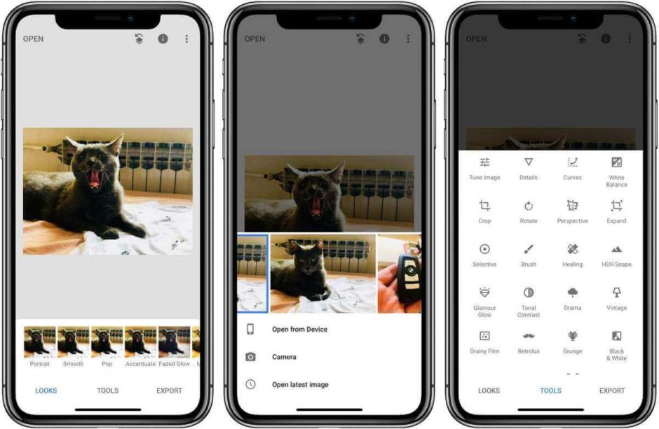Snapseed is the best photo editing app for iPhone 11