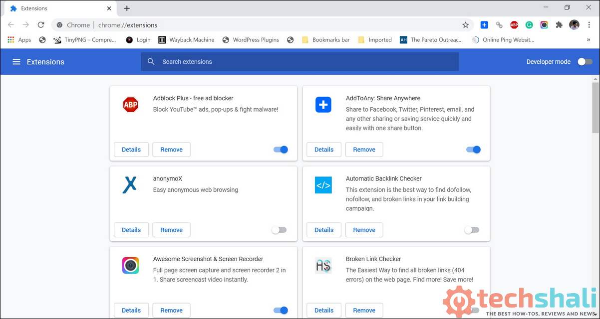 Manage Google Chrome Extensions