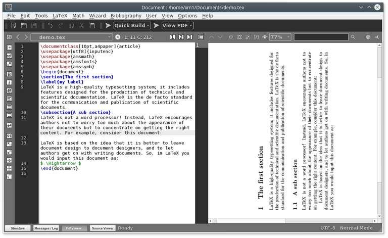 TEXMAKER LaTex Editor
