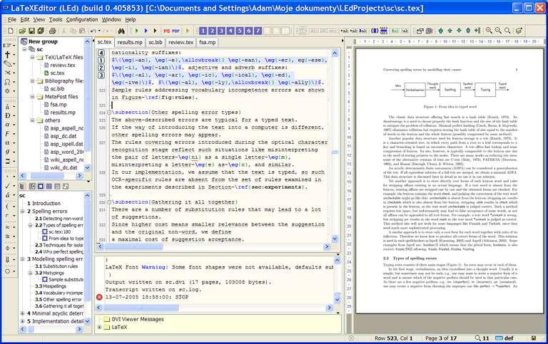 led latex editor list