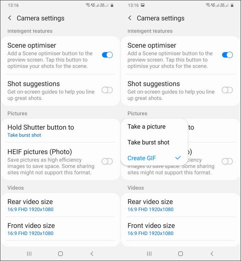 Create A Gif With The Galaxy A51 Camera