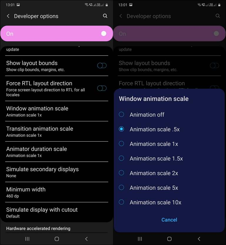 Speed up Animations on Samsung Galaxy A51